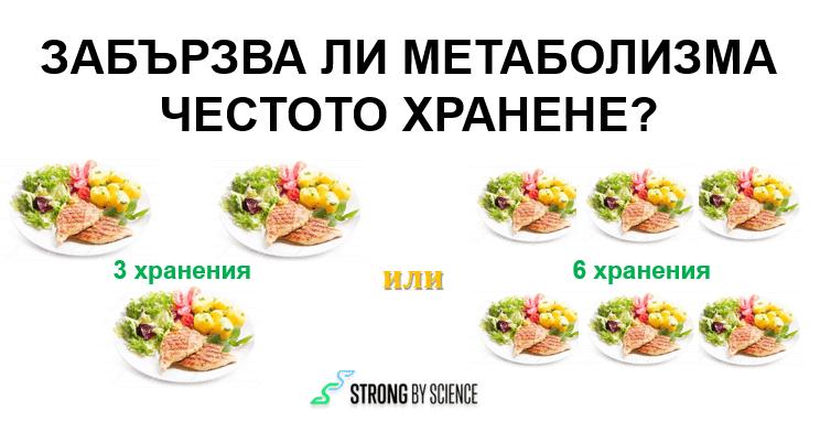 Забързва ли метаболизма честото хранене?