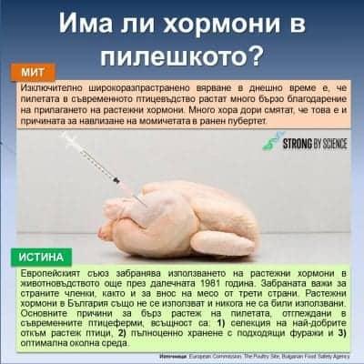 Има ли хормони в пилешкото?