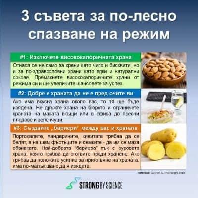 3 съвета за по-лесно спазване на режим