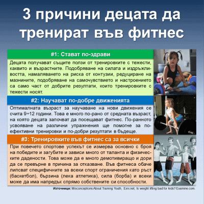 3 причини децата да тренират във фитнес
