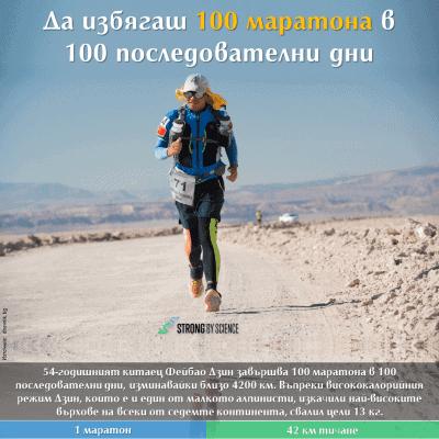 Да избягаш 100 маратона в 100 последователни дни