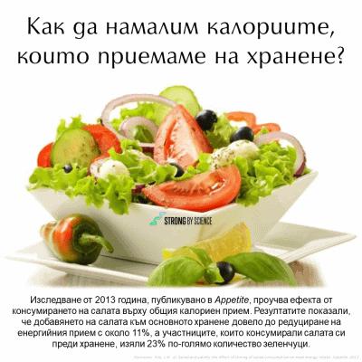 Как да намалим калориите, които приемаме на хранене?