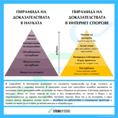 Пирамида на доказателствата в интернет спорове