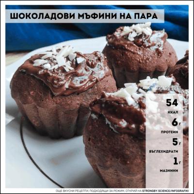 Шоколадови мъфини на пара
